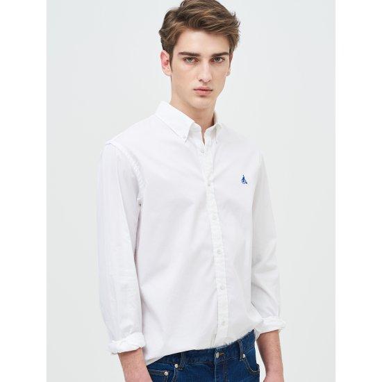 [빈폴멘] 남성 화이트 트윌 셔츠 BC9164C061
