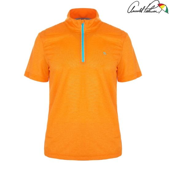 [아놀드파마] 남성 배색 반지퍼 티셔츠 AMM6KH41_OR