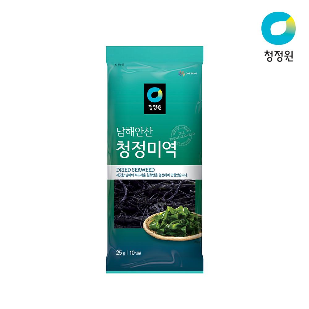 [청정원] 남해안산 청정 미역 25g10인분