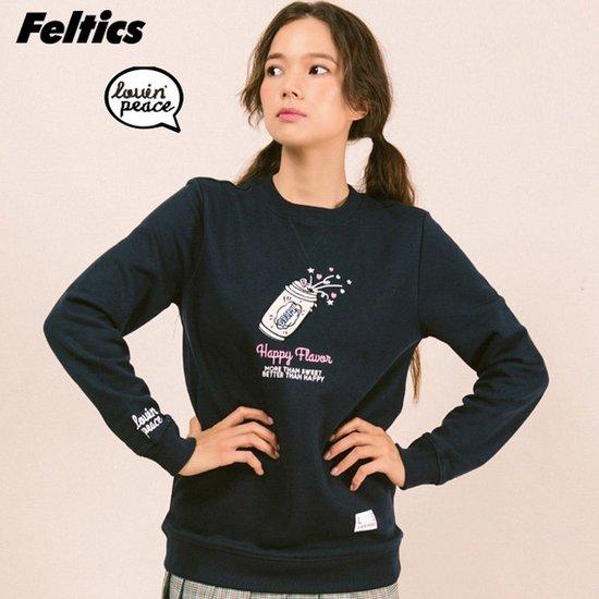 [로피 펠틱스] 해피 팝 네이비 스웨트 티셔츠