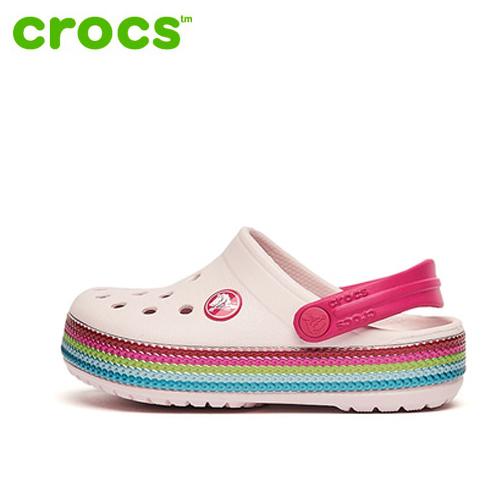 [CROCS]크록스 아동샌들 멀티그래픽 클로그_205525-6PI