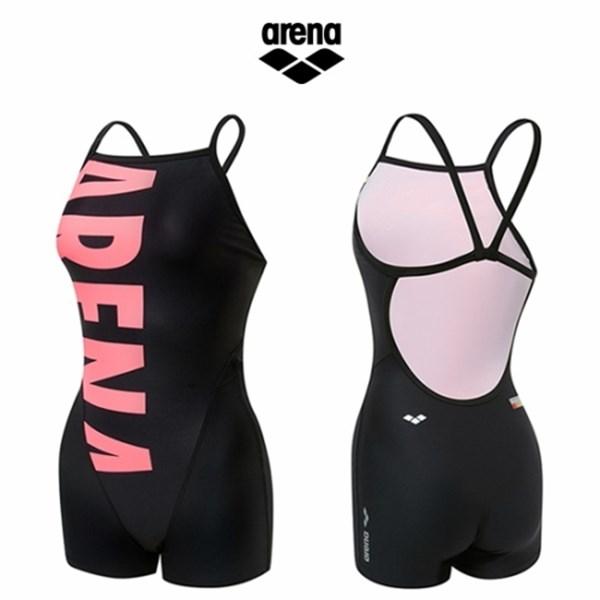 [하프클럽/아레나]아레나 여성 선수 2부반신 수영복 AVSCE54 BLK