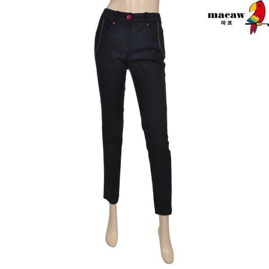 [마코] 여성 포켓 자수 슬림 라인 팬츠 4MGW1LP02_68