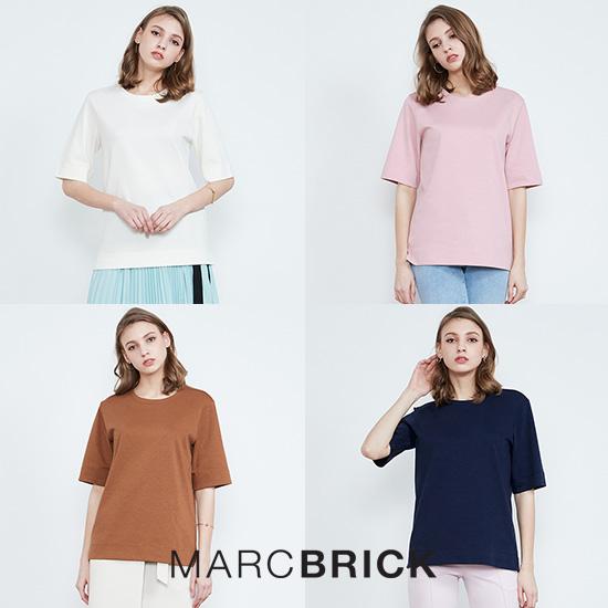 [2만원인하]마크브릭 19SS캘리포니아 피마코튼 여성 티셔츠 4종
