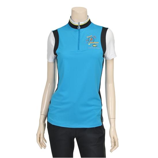 [마코] 여성 트리플 칼라 배색 지퍼 폴리 티셔츠 4MGW2TH06_69