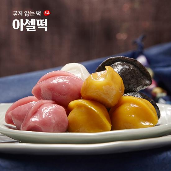 굳지않는 떡 아셀떡 8종 골라담기 절편/빵경단/바람떡/찹쌀떡/