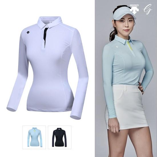 [데상트골프] [19SS]여성 냉감소매 긴팔 티셔츠 D912WFTL34