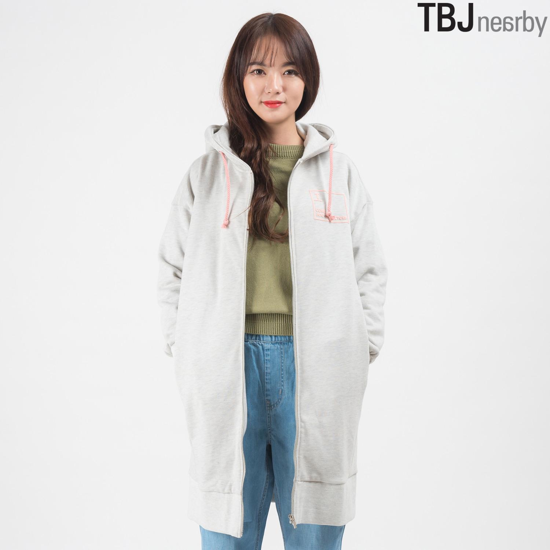 [TBJ]여성 롱기장 3단쮸리 후드집업(T161TS860P)