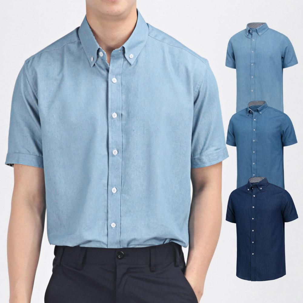 남자 캐쥬얼 남성셔츠 반팔남방 와이셔츠 DFST045
