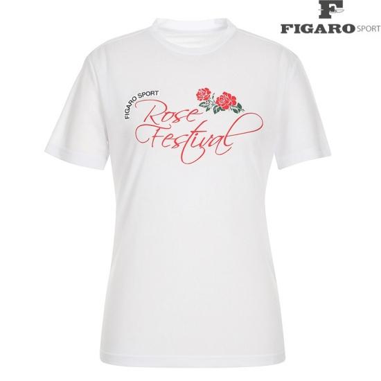 [피가로스포츠] 여성 프린팅 포인트 반팔 티셔츠 4F8MTE979D_WH
