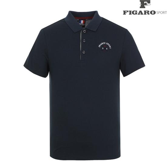 [피가로스포츠] 남성 솔리드 카라 반팔 티셔츠 4F8MTS045M_DG