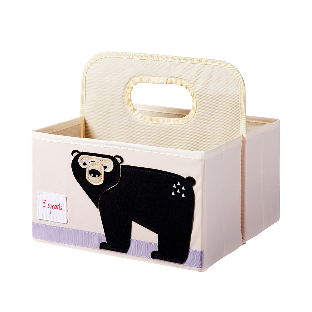 3스프라우츠 사각 기저귀정리함-블랙곰
