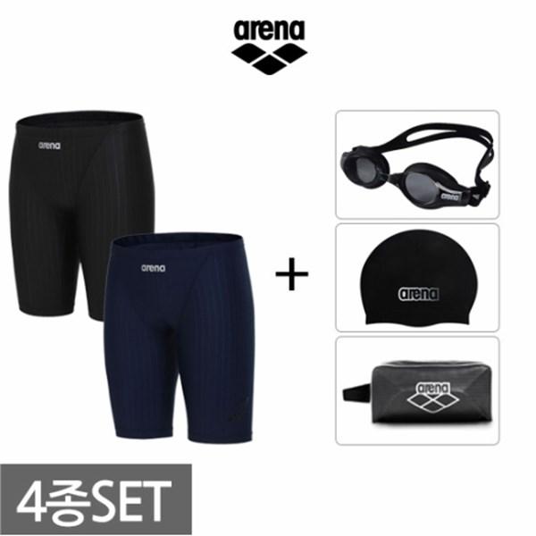 [하프클럽/아레나]아레나 남성 4부사각+용품 수영복세트 AVSPM..