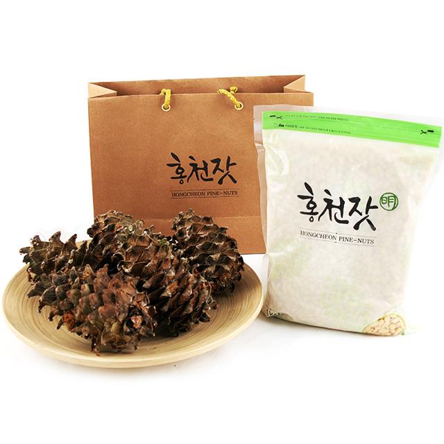 홍천 잣 백잣/황잣 지퍼백