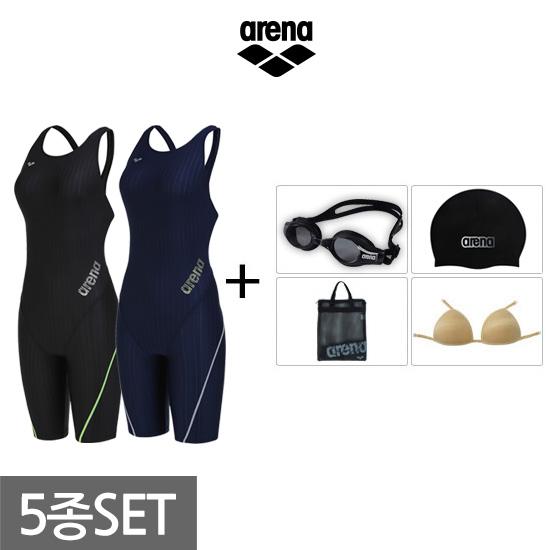 아레나 여성 반신+용품 수영복세트 AVSPL67A60