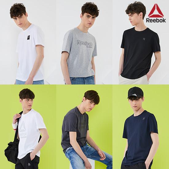 [리복]남/녀 시그니처 로고 티셔츠 6종세트
