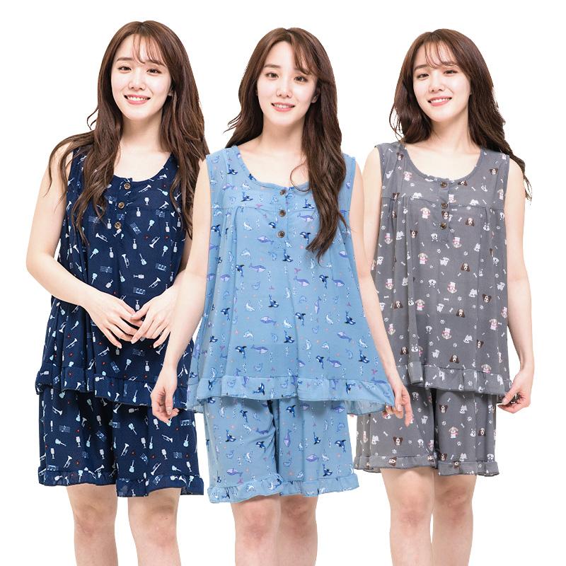 [민트코코아] 시원한촉감 여성나시잠옷 파자마세트 7종택1