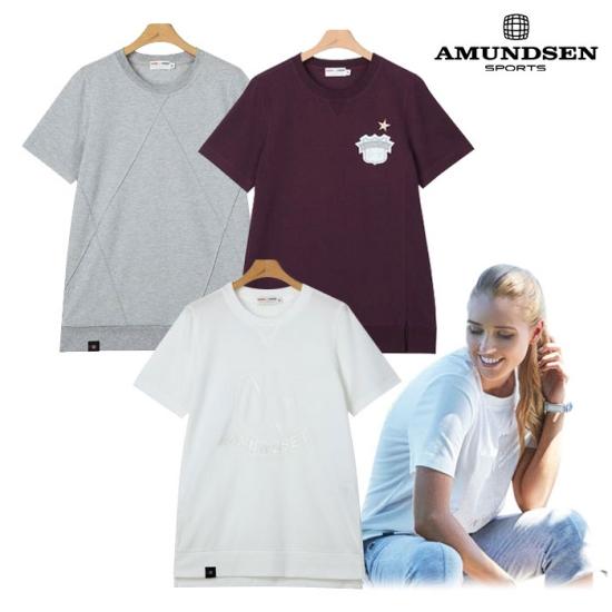 아문센 여성 피케원단 라운드 반팔 티셔츠 3종 택1