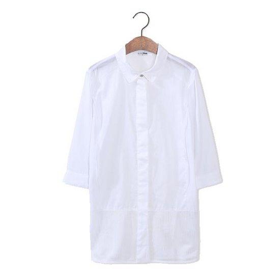 홈쇼핑 엘리스블루 여성 화이트 남방 셔츠 블라우스