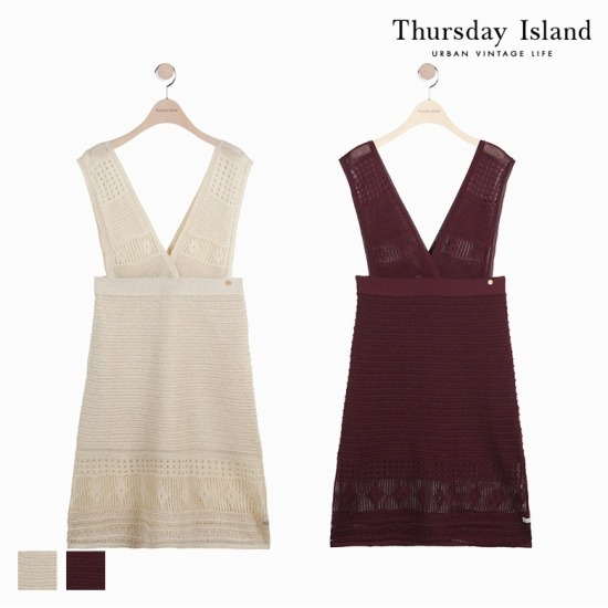 [Thursday Island]여성 스카시 조직 변형 원피스T174MSW233W