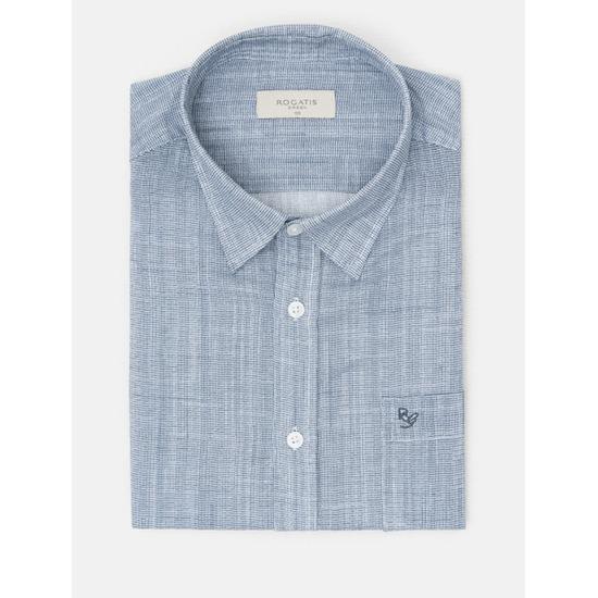 [로가디스] 네이비 플라잉 미니 체크 셔츠 MA8465RN1R