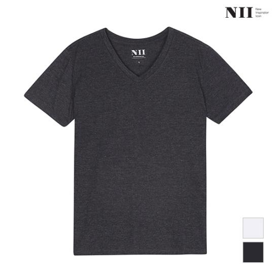 NII  공용 솔리드 브이넥 티셔츠_2NNUARTM2121