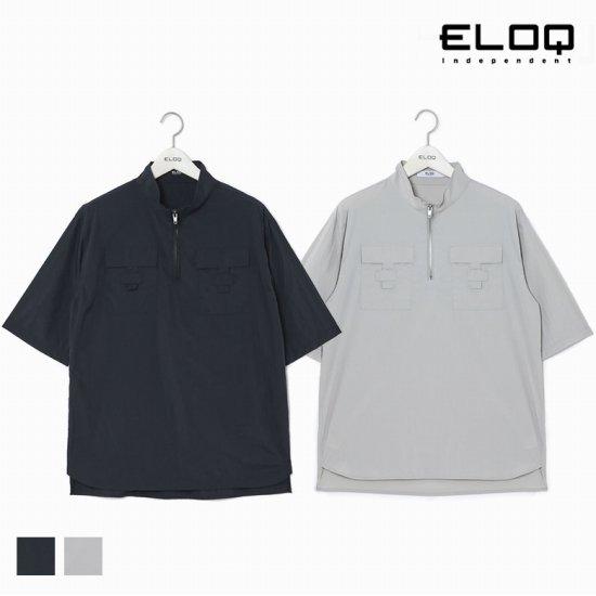 [ELOQ]남성 루즈핏 변형 포켓 1/2오픈 하이넥 셔츠B174MSH124M