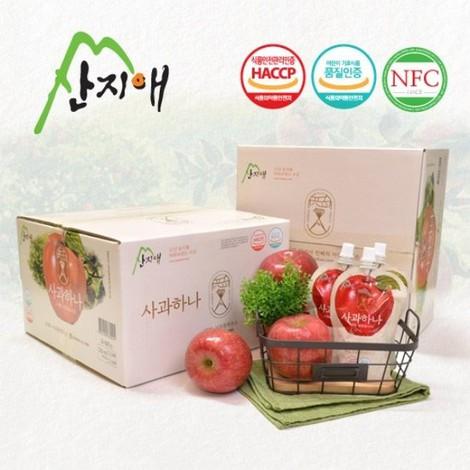산지애 사과원액주스 30팩+30팩/사과즙100%착즙,NFC 外