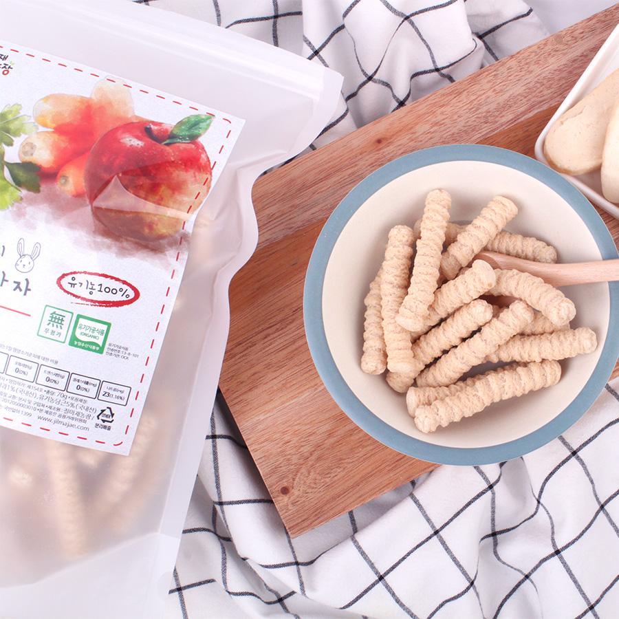 질마재농장 유기농 현미사과당근 스틱70g