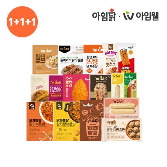 [아임닭] 닭가슴살&소시지 外 BEST 60종 골라담기