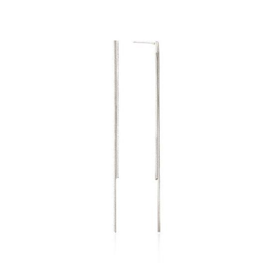[MON][925실버] 스네이크 투 라인 귀걸이