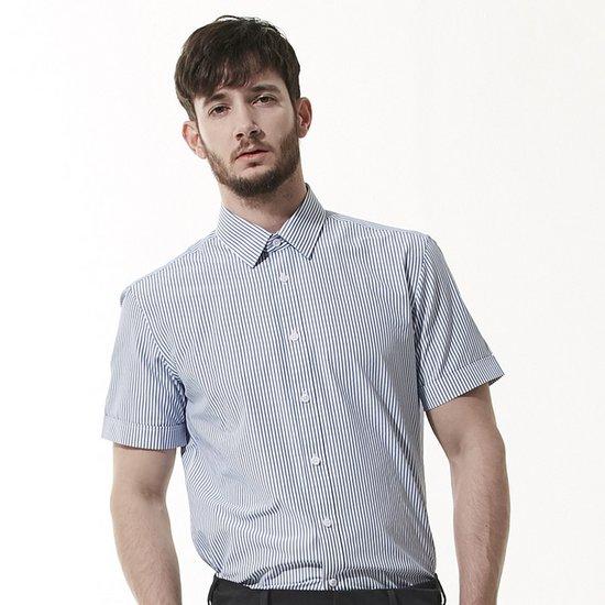 [by STCO][95~130 SIZE] 블루 남성 스트라이프 반팔 셔츠