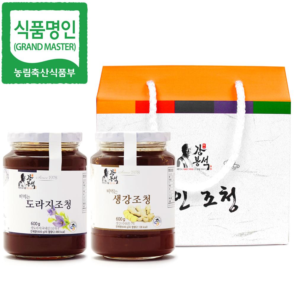 두레촌 명인 도라지/생강조청 600gx2개입 선물세트
