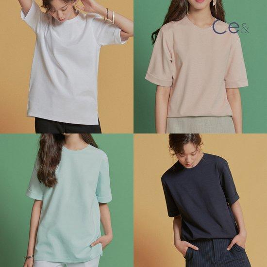 씨이앤 여성 컬러 티셔츠
