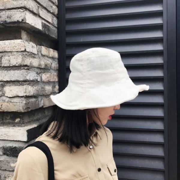 엔비 린넨 버킷햇 벙거지 여름 파나마 여자 여성 모자