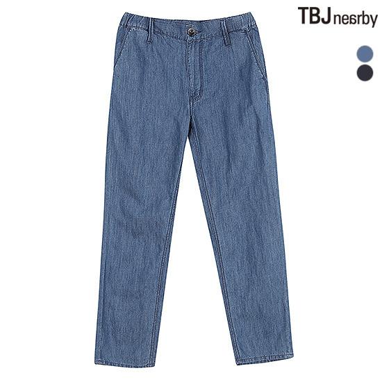 [TBJ]유니 11 FITS 9부 난스판 린넨 밴딩 데님(T162DP310P)