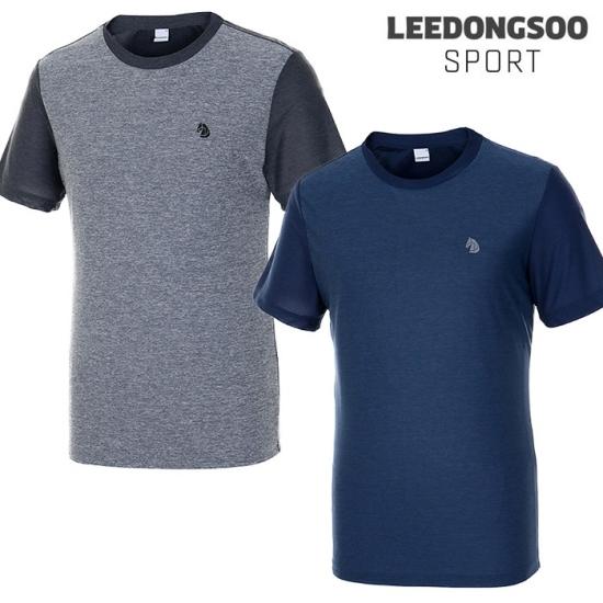 이동수스포츠  남성 컬러블록 라운드 반팔 티셔츠 2종택1 H8BTS6020