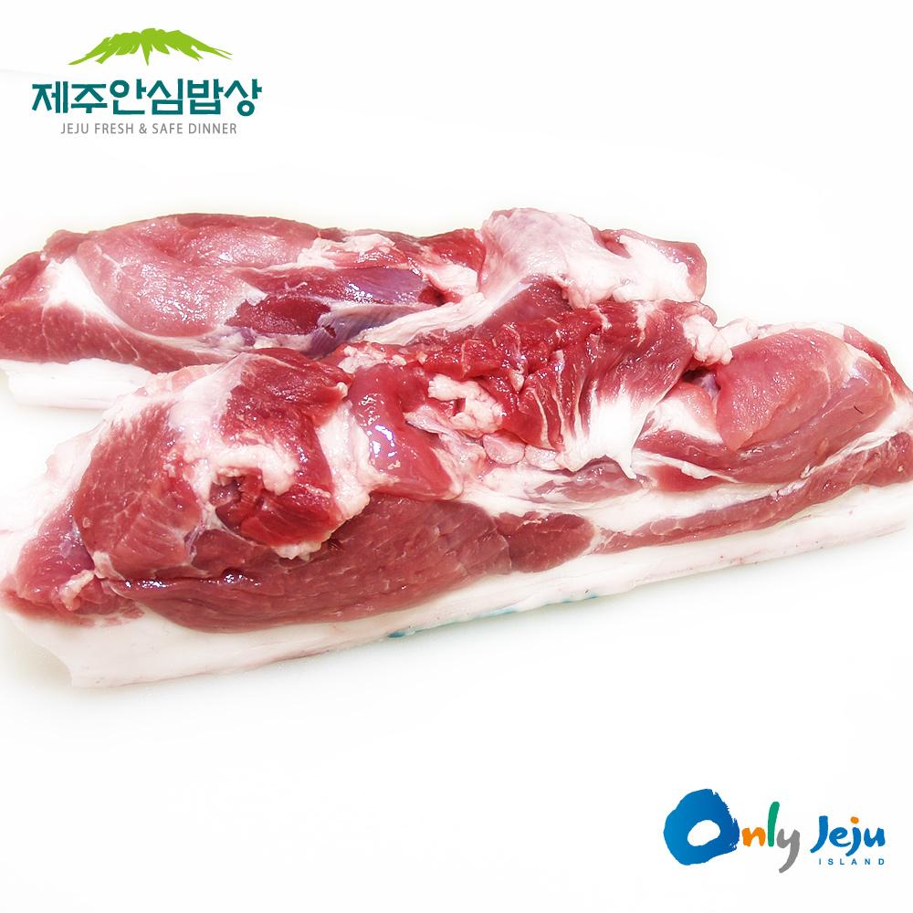 제주안심밥상 행복한목장 제주흑돼지 보쌈용 400g x 2