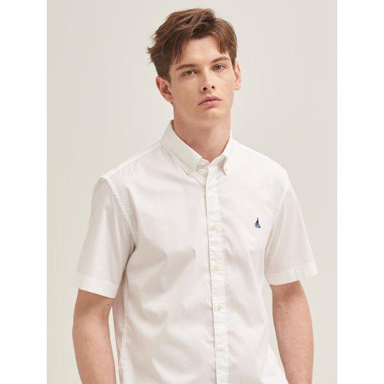 [빈폴멘] 남성 화이트 트윌 코튼 반소매 셔츠 BC9365A101
