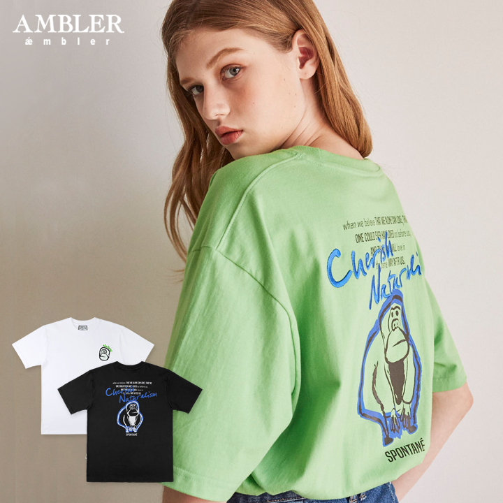 엠블러 19SS NEW 반팔 오버핏 티셔츠 AS617