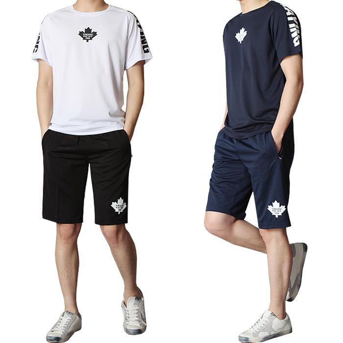 남성 반팔티 반바지 트레이닝복 운동복 츄리닝세트 MP-캐나다 5부 트레이닝세트