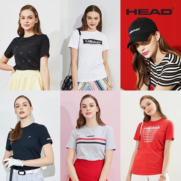 [HEAD]19 NEW 헤드 여성 티셔츠세트 5종+캡모자