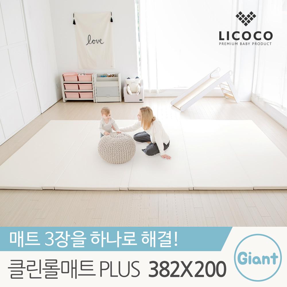 [리코코] 클린 롤매트 Plus 자이언트 382x200x4cm /폴더 거실 복도 놀이방 맞춤형 아기 매트