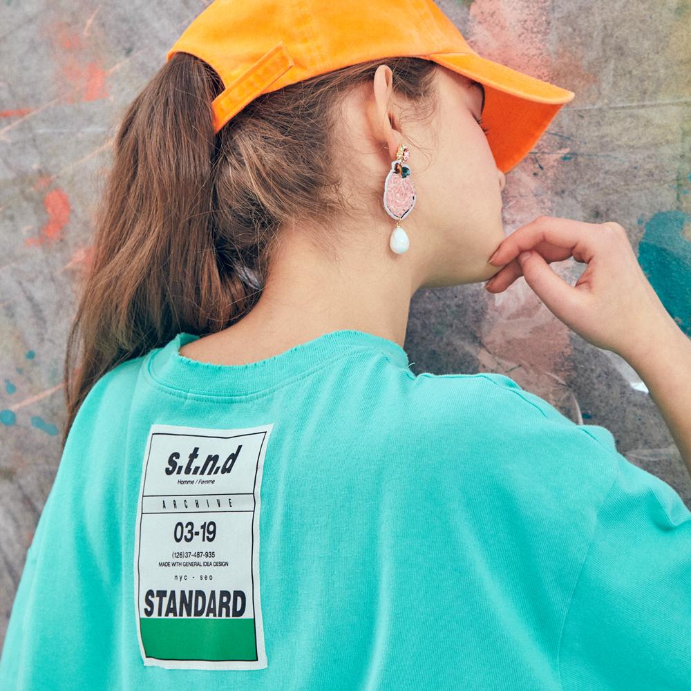 [제너럴아이디어19SS썸머]빅라벨 오버핏 티셔츠S9D05001MI
