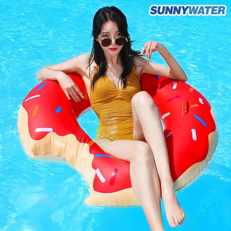 [써니워터] 딸기 도넛 튜브120cm/물놀이용품/보트/수영용품/라이
