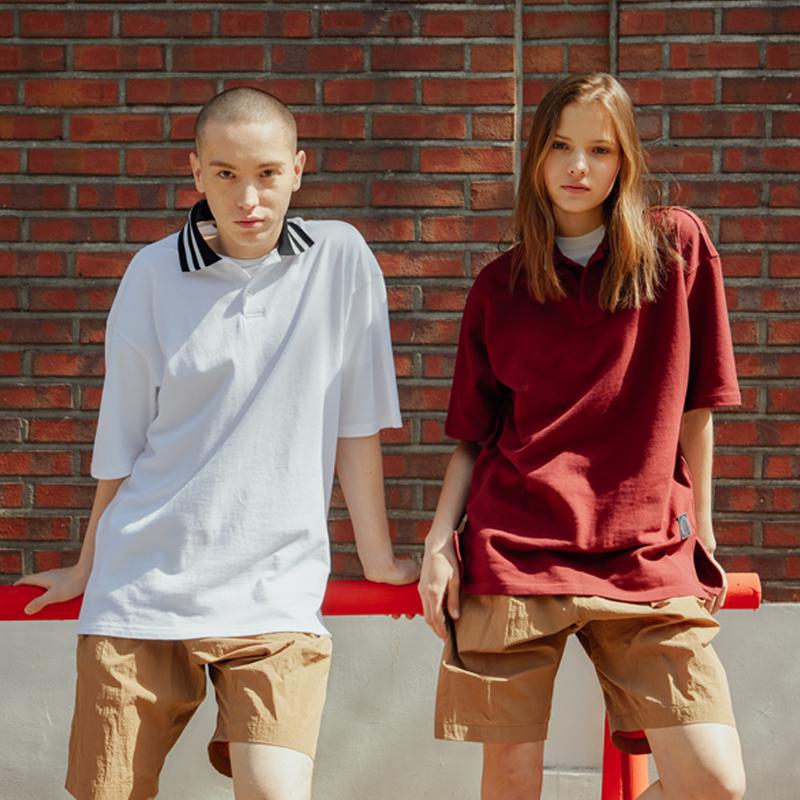 빈폴스포츠 Unisex 오버핏 칼라 포인트 피케 티셔츠 3종택1 3종택1