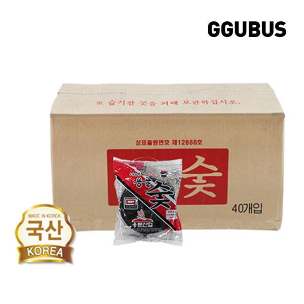 [꾸버스] 아래로타 용골숯 1p 40봉 1박스- 캠핑바베큐숯