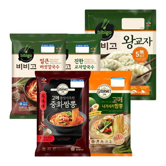 CJ 고메 중화짬뽕/중화짜장/칼국수/왕교자 6인분 세트 택1