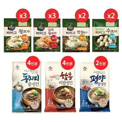 [오플]CJ냉면 10인분 + 비비고만두 10봉