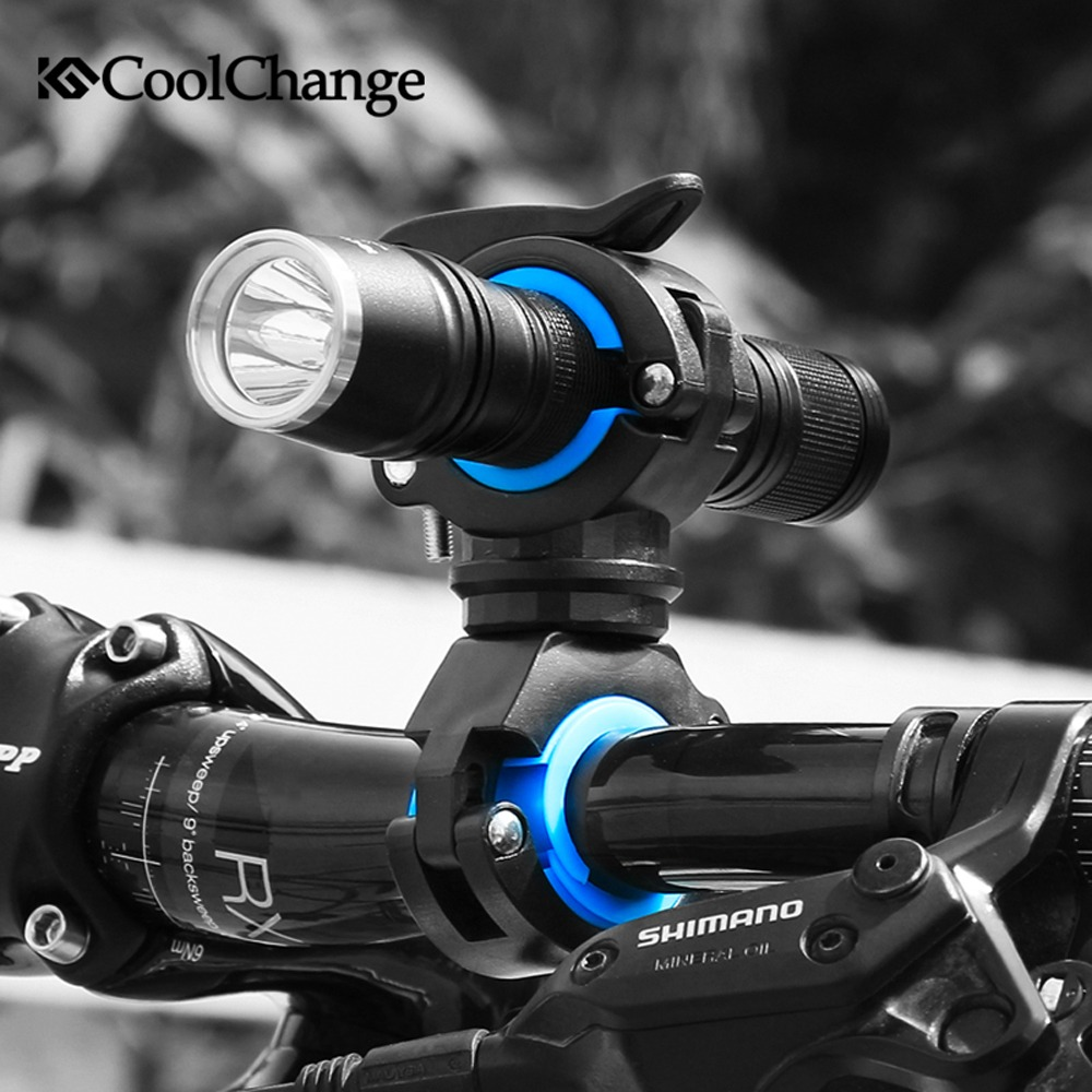 CoolChange 자전거 전조등홀더 360도회전 자전거용품